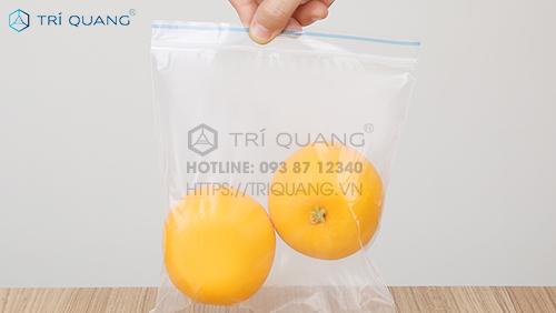 Túi zip đựng thực phẩm với tính an toàn vệ sinh được đảm bảo hàng đầu