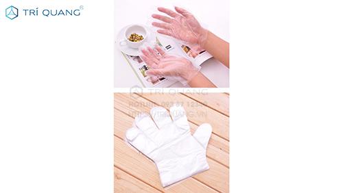 Bao tay thực phẩm hay còn gọi là bao tay xốp được sử dụng trong chế biến thực phẩm