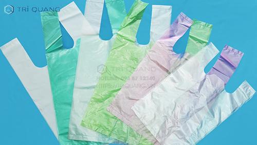 Túi nilon có quai màu